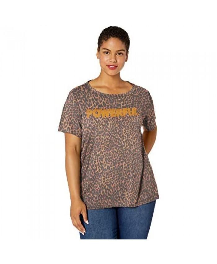 Jessica Simpson Women's Remmi Short Sleeve Oversized Graphic Tee Shirt