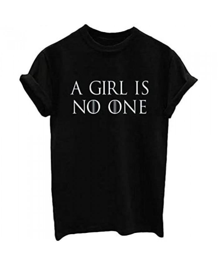 Nicetage Women's Cute Funny T Shirt Teen Girl Graphic Tee Short Sleeve Casual Tops