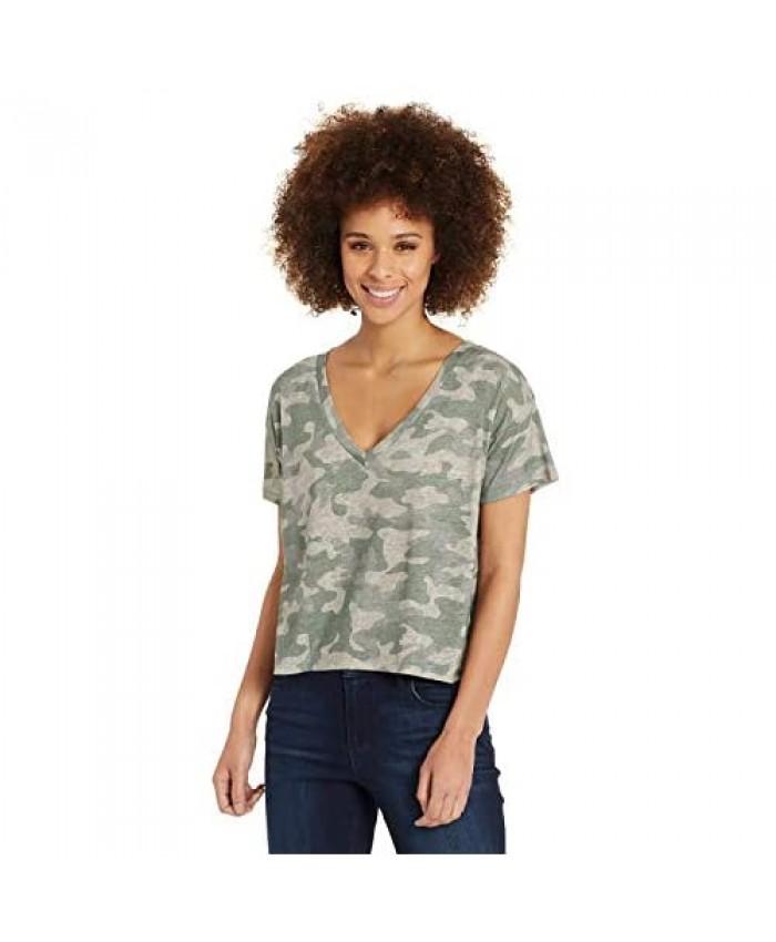 Skinnygirl Women's Dahlia V-Neck Short Sleeve Tee Shirt