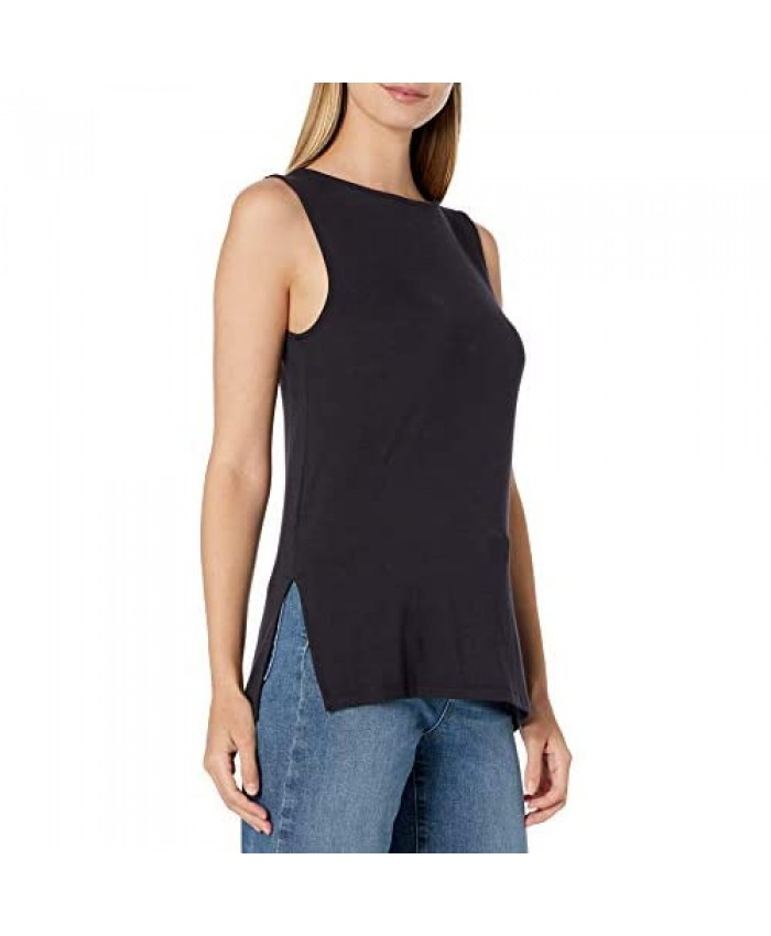 Brand - Daily Ritual Women's Jersey Sleeveless Shell Top with Side Splits