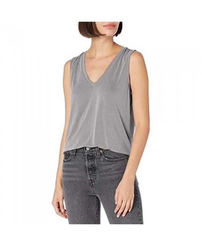 Lucky Brand Women's Sleeveless V-Neck Sandwash Tank Top