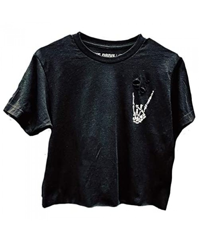 The Drive Clothing Regret Crop Top - Road Rash Collection - Black