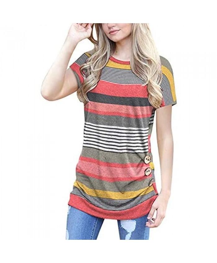 Unidear Womens Summer V Neck Tank Top Ruffle Shoulder Sleeveless Shirt