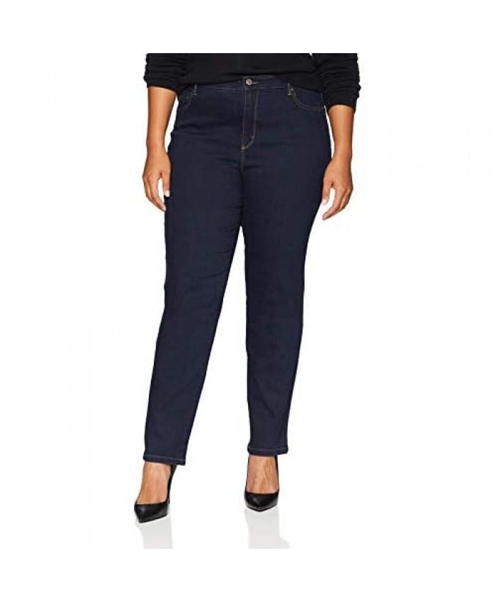 Gloria Vanderbilt womens Amanda Classic High Rise Tapered Jean Rinse Noir 10 Short
