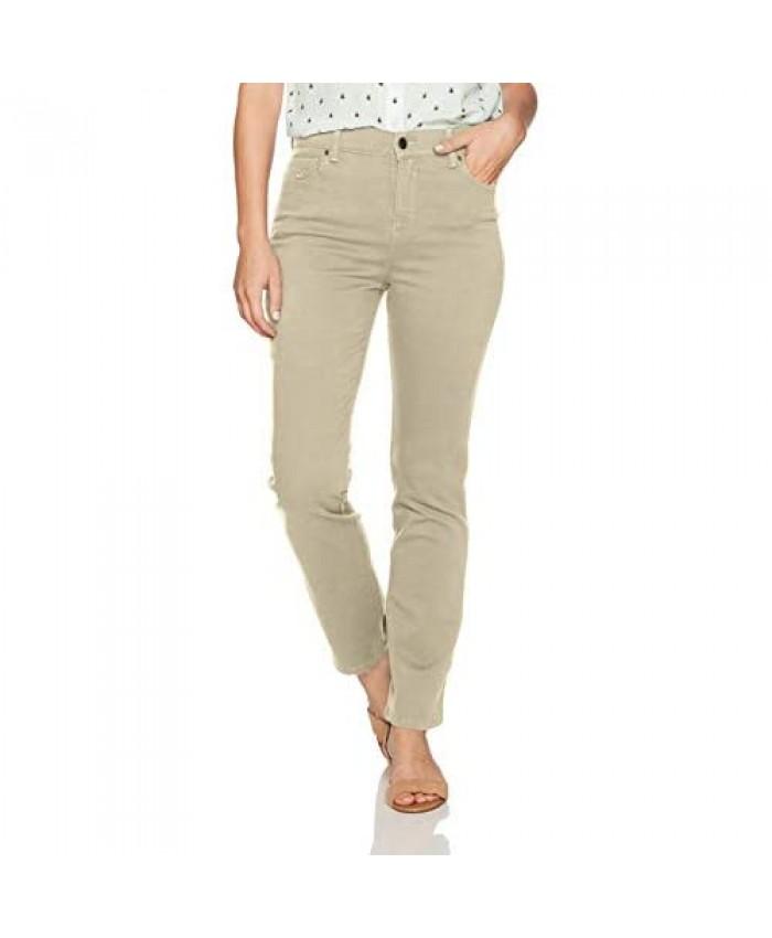 Gloria Vanderbilt womens Classic Amanda High Rise Tapered Jean Perfect Khaki 8 Short