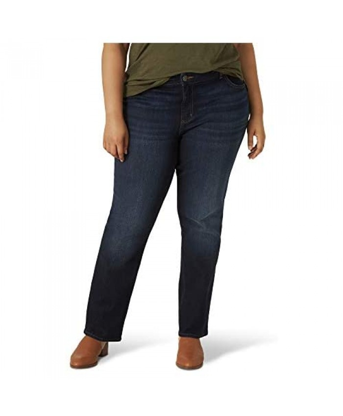 Lee Women's Plus Size Regular Fit Straight Leg Jean