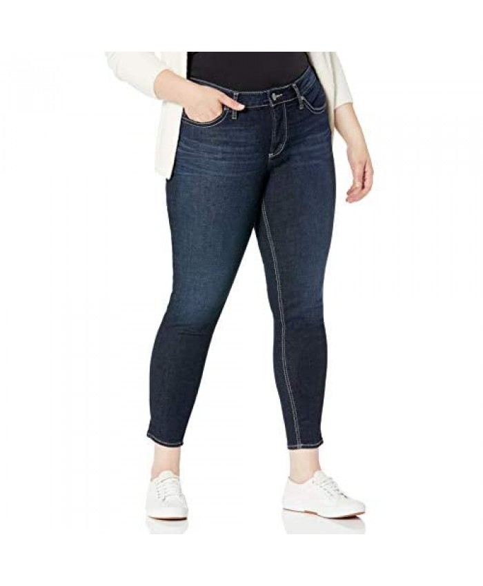 Silver Jeans Co. Women's Plus Size Suki Curvy Fit Mid Rise Skinny Jeans