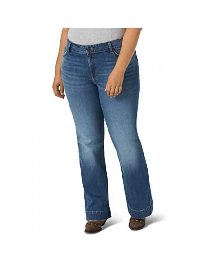Wrangler Women's Retro Mae Mid Rise Plus Trouser Jean