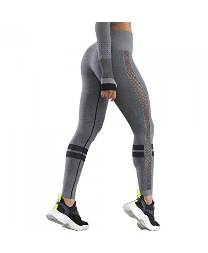 ATOKULE High Waisted Seamless Leggings for Women Workout Compression Sexy Leggings Running Yoga Leggings
