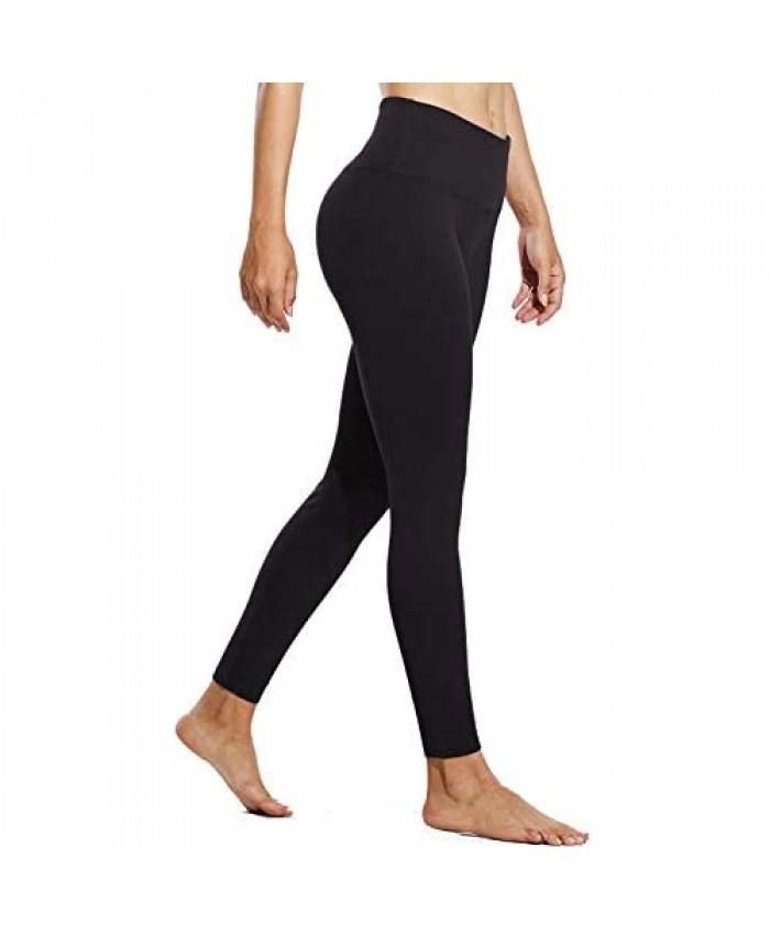 BALEAF Women's Fleece Lined Leggings Winter Warm Yoga Pants Thermal High Waisted Seamless Leggings Inner Pocket