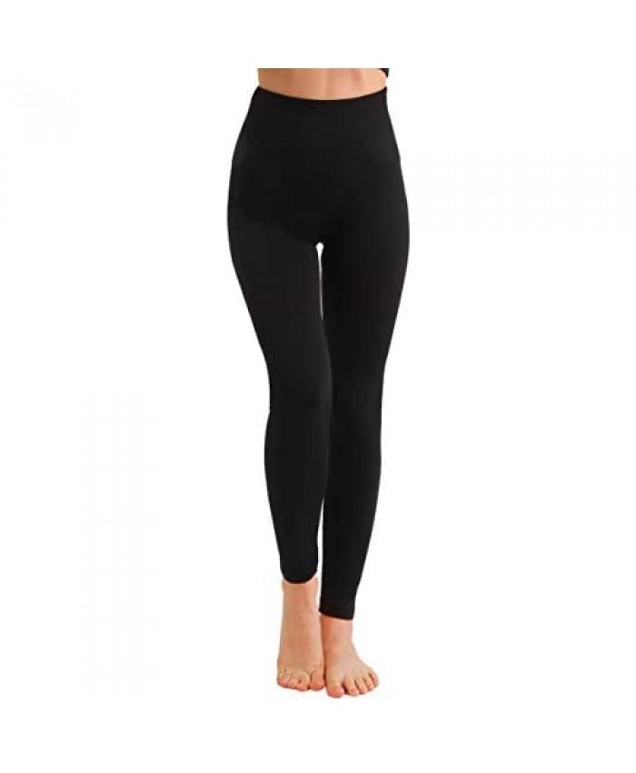 Fleece Lined Leggings for Women -High Waist Winter Leggings Thick Yoga Pants