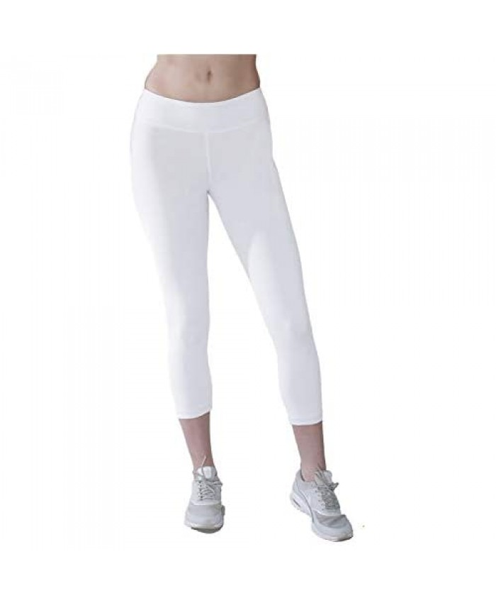 In Touch Cropped Cotton Leggings for Women in Organic Cotton - Eco Cotton Capri Leggings