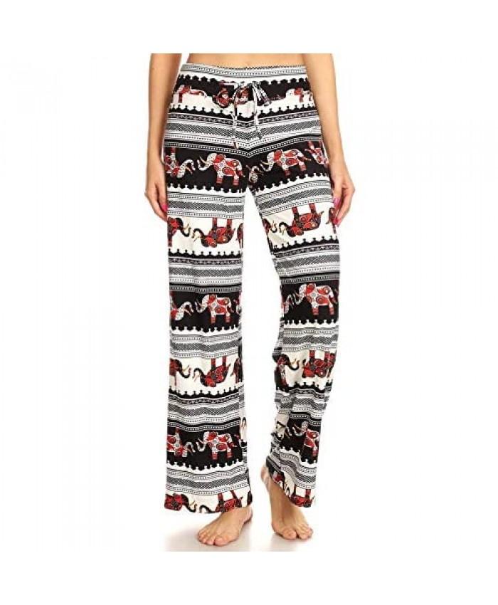 Leggings Depot Women's Popular Comfortable Casual Solid and Print Pajama Lounge Pants BAT3TD