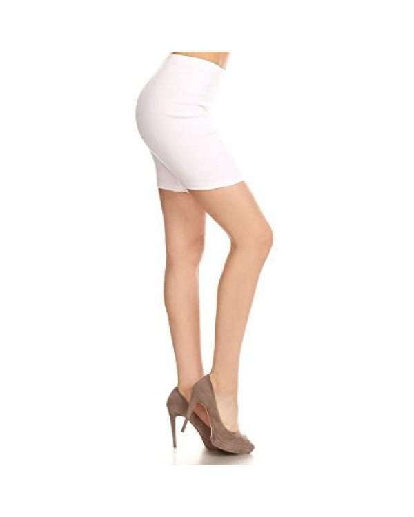 Leggings Depot Women's Premium Cotton Soft Bike Shorts NCL16