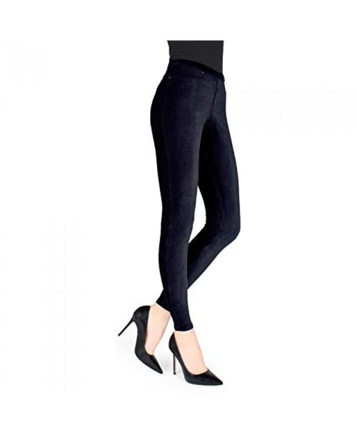 MeMoi Thin-Rib Stretch Corduroy Leggings