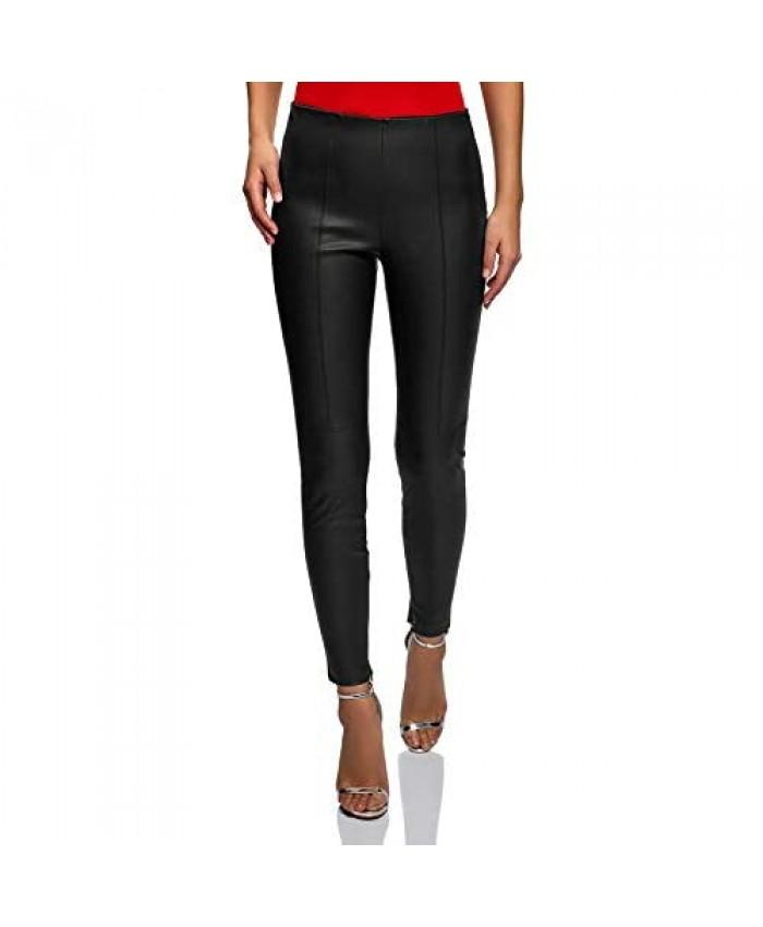 oodji Ultra Women's Faux Leather Leggings