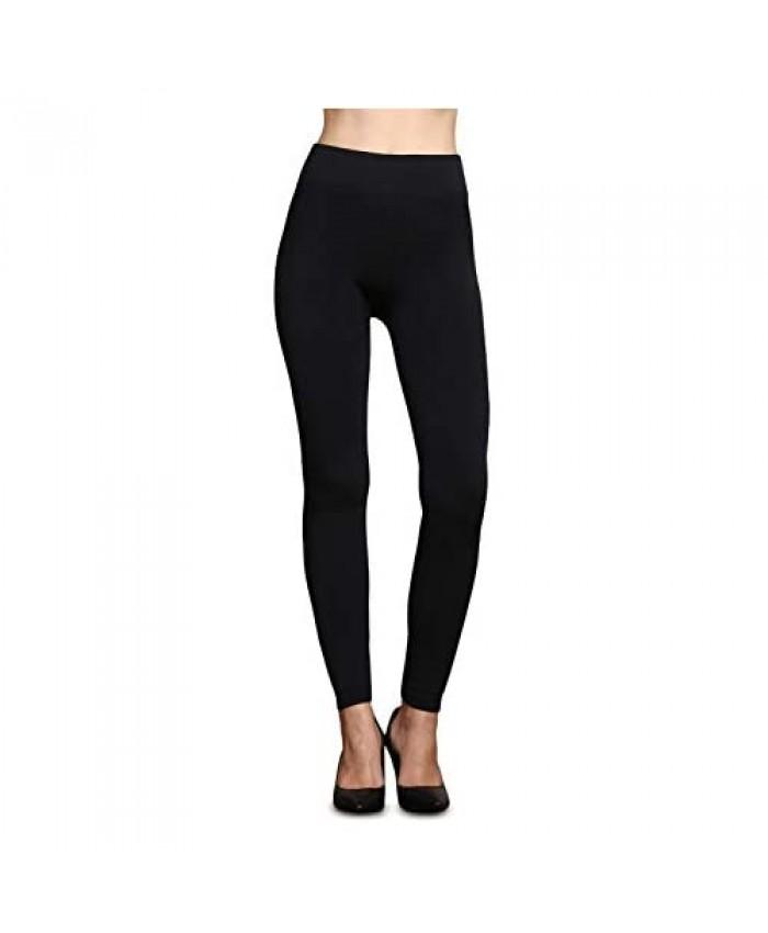 RIAH FASHION Comfortable Casual Leggings Regular Plus Size - Soft Stretch Pants Warm Fleece Lined Solid Camo Bohemian Print