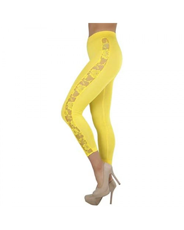 ToBeInStyle Women's Seamless Ankle Length Lightweight Stretch Leggings